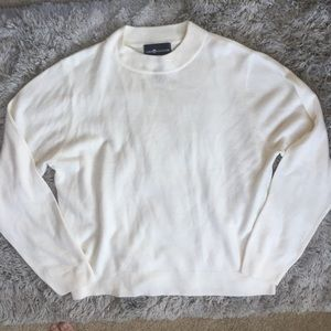 Sag Harbor White XL Crewneck Sweater